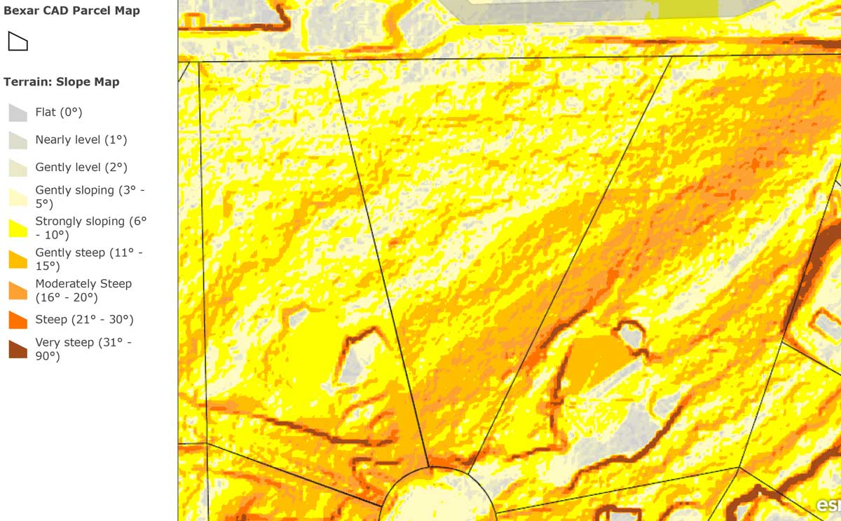 Slope Map of 25424 Fairway View